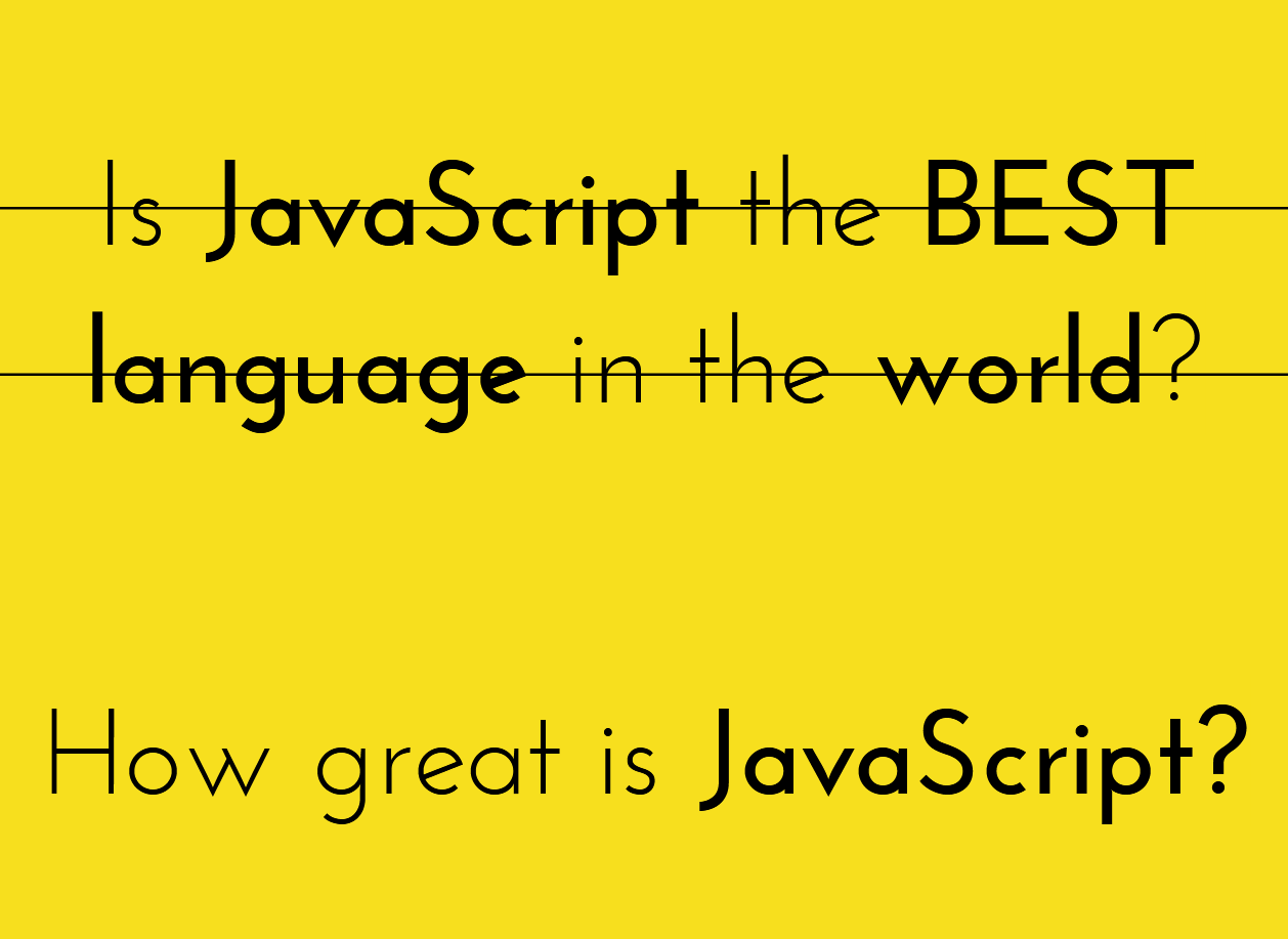 Is JavaScript the best language in the world? slides thumb